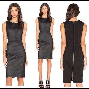 Anthropologie  Level 99 Black Scarlet Zip Dress